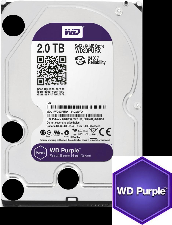 WD purple 2TB surveillance HDD
